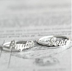 27 Genius Gift Ideas for Mother's Day 2013: Name Ring- Warning: This sweet, personalized ring may cause waterworks.#gifts Monogram name ring, $30 + $2.50/letter, silverpromo.com