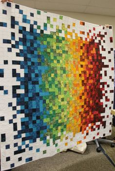 Columbus Modern Quilt Guild pixel quilt - photo by DanaK~WaterPenny, via Flickr;  Ohio