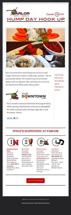 Parlor 88 Check Your Email, Newsletter Design, Veggies, Shit Happens, Vegetable Recipes, Vegetables, Email Newsletter Design