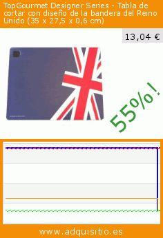 TopGourmet Designer Series - Tabla de cortar con diseño de la bandera del Reino Unido (35 x 27,5 x 0,6 cm) (Cocina). Baja 55%! Precio actual 13,04 €, el precio anterior fue de 28,80 €. https://www.adquisitio.es/topgourmet/designer-series-tabla