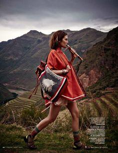 Catherine Mcneil photographiée par Mariano Vivanco pour Vogue Russie mars 2014