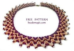 Free pattern for beaded necklace Janet | Beads Magic