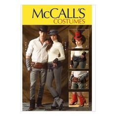 McCalls M6975 Fingerless Gloves, Hats & Belts  One Size