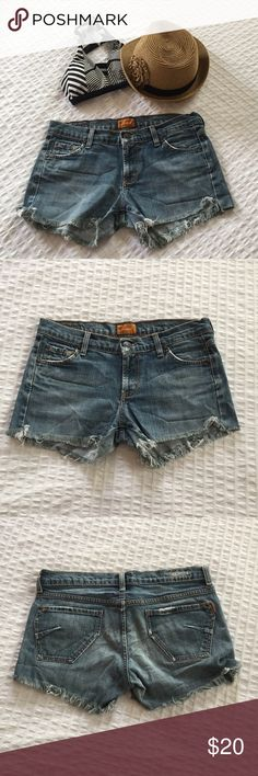 """James Daisy Dukes Perfectly broken in daisy dukes! Made from an pair of James premium denim jeans. Approx. 3"""" inseam. James Jeans Shorts Jean Shorts"""