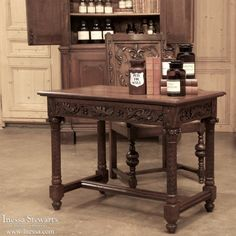 Antique Furniture for Home or Office | 19th Century Gothic Library Writing Table #antique #office #furniture www.inessa.com