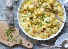 Jednoduchý a přitom chuťově výborný recept na gratinovaný květák, který vás nadchne. Stačí pár surovin a jen troška vaší práce a můžete si pochutnat. Whole 30 Recipes, Low Carb Keto, Lchf, Mashed Potatoes, Cauliflower, Macaroni And Cheese, Vegetarian, Healthy Recipes, Dishes