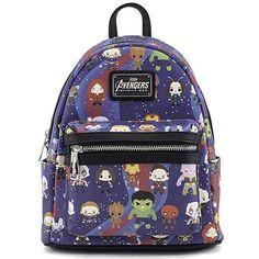 a8e8bc4f0 Loungefly x Avengers Chibi AOP Mini Backpack Review Mochila De Viagem,  Coisa De Nerd,