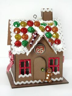 Oh my goodness, crafters, don& say I didn& warn you: Tim Holtz& new Village Dwelling die and the compatible Village Winter die make c. Christmas Paper, All Things Christmas, Christmas Home, Christmas Crafts, Christmas Decorations, Christmas Village Houses, Putz Houses, Christmas Villages, Gingerbread Houses