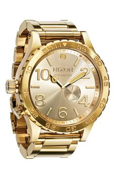 so in love...Nixon 'The 51-30' Bracelet Watch available at #Nordstrom