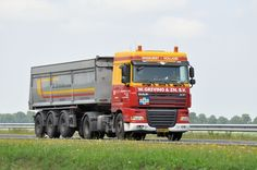 DAF FT  XF 105 4x2 spacecab met kipperoplegger van W. Greving in Engelbert