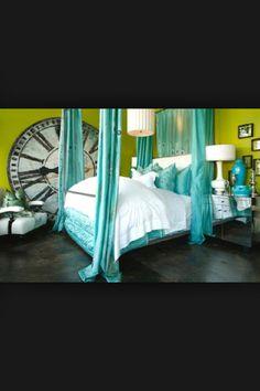 Torquise bedroom