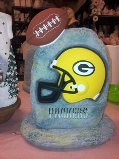 Green+Bay+Packers+Helmet+stone+by+ThisIMadeForYou+on+Etsy,+$45.00