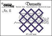 Decorette stans no. 8 / Decorette die no. 8