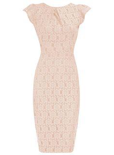 Blush Lace pencil dress