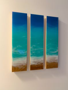 Beach resin wall art Resin Wall Art, Art Abstrait, My Arts, Beach, Painting, Artist, Art Ideas, Seaside, Painting Art