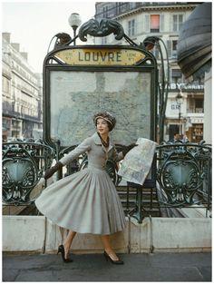 Robe Palais de glace, collection Dior Haute Couture printemps-été 1957 - photo Mark Shaw