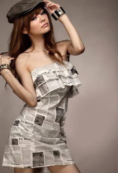 Creative and Fashionable Newspaper Craft. It looks elegant and worth money  instead of just recycled cbfc9c5b8d5