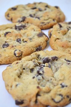 Recipe for big, soft, and chewy chocolate chip cookies that feature giant chunks of chocolate. You can easily freeze the extra dough to bake later, too!