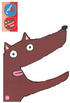 wolf, kleikaart, plasticine knippen, tanden Elementary Spanish, Elementary Schools, Wolf Information, Plasticine, Three Little Pigs, Craft Activities, Mammals, Fun Crafts, Fairy Tales