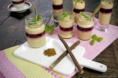 Recept på lakritspannacotta med hallon