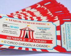 Convite ingresso Circo, convite circo, invitation circus, invitation, ticket,