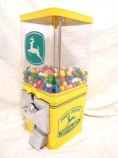 JOHN DEERE Loader vintage gumball machine coin op vintage coin op candy machine