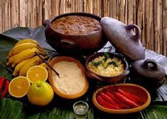 Barreado - a typical dish of Paraná, Brazil, meats and spices are cooked in a clay pot for 24 hours and served with banana and farofa.