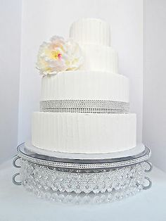 Rhinestone And Crystal Wedding Cake Stand