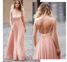 Rochii de nunta lunga roz pal