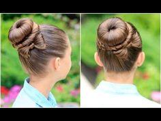Tutorial for creating this Amazing Bow Bun!  I love this look! #cghbowbun #cutegirlshairstyles #hairstyles #hairstyle #bowbun #bunhairstyle #bun