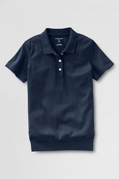 School Uniform Short Sleeve Banded Bottom Polo shirt from Lands' End