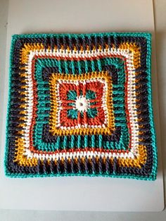 """Ravelry: Project Gallery for Moroccan Window 12"""" Afghan Square pattern by Heather C Gibbs"""