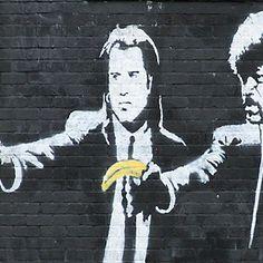 Both Banksy and Pulp Fiction