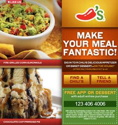 Free Appetizer or Dessert at Chili's!