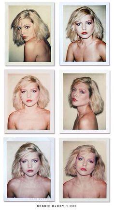 Polaroids of Debbie Harry taken by Andy Warhol in 1980.