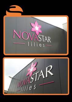 De gevel van Novastar is niet meer te missen met deze mooie belettering!