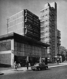 Eros House, Catford, London, 1960-1963. Architects: Owen Luder Partnership Modern Buildings, Modern Architecture, Barbican, Brutalist, Landscape Photographers, Scenery, The Incredibles, World, House