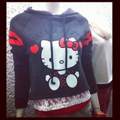 Hello Kitty at dELiA*s. Sooo wish they had a Delia's close to me..but I always order online and have a lot of free shipping :-) want this hoodie!!