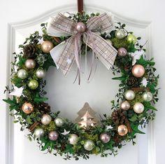 stern t rkranz weihnachten blau silber 35cm advent kranz. Black Bedroom Furniture Sets. Home Design Ideas