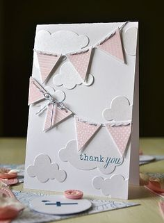 Love the simplicity of this beauty.  Perfect for any occasion, but I am especially thinking to welcome baby.  Original by @Maile Belles #cardmaking #baby #banners