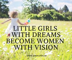 Today is a day to remind ourselves to nurture all the little girls so that they realize their dreams and make a difference in the world. Little Girls, Dreams, Motivation, World, Day, How To Make, Inspiration, The World, Baby Girls