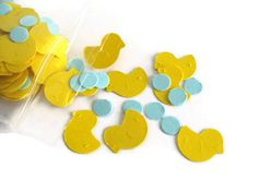 Yellow Rubber Duckie Baby Shower Confetti by TheShopatPoohCorner, $3.00