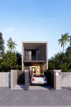 Precious Tips for Outdoor Gardens In general, almost half of the houses in the world… Townhouse Exterior, Tiny House Exterior, Modern Exterior House Designs, Modern House Design, Townhouse Designs, Bungalow House Design, House Front Design, Small House Design, Classic House Design