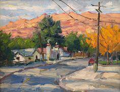 Moab Impressions 14 x 18 (framed art) original plein air western landscape oil painting impressionism