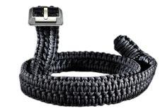 RattlerStrap Paracord Survival Belt (Black, XLarge (44-46))