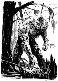 Swamp Thing Sketch by heathencomics.deviantart.com on @DeviantArt