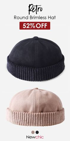 a7d4023c83e Men Women Retro Rolled Cuff Brimless Hat Skullcap Sailor Cap Worker Hat  Adjustable  cap