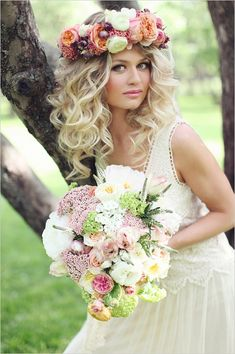 wedding accessories floral crown by Blush Petals