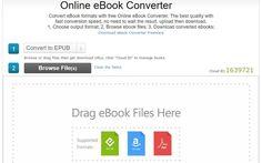 Online eBook Converter es una práctica herramienta online gratuita, no es necesario registro, para convertir eBooks online entre los formatos más populares.