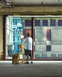 You can watch Pennsylvania Academy of the Fine Arts artists as they work inside their studios.